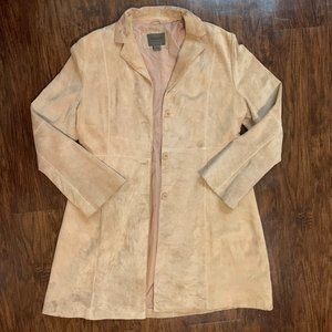 uniform johnpaulrichard suede tan leather jacket